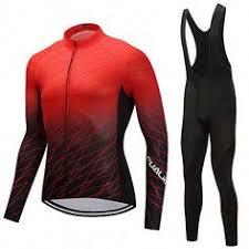 <b>FUALRNY</b>® Men's <b>Long</b> Sleeve Cycling Jersey with Bib Tights ...