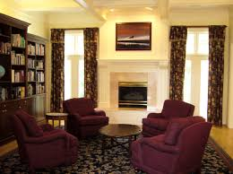 apartment curtains living room paint colors and navy rug on pinterest burgundy furniture decorating ideas
