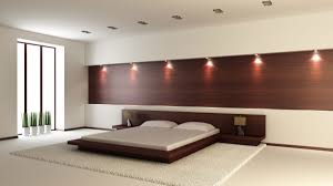 bedroom design red contemporary wood: elegant home bedroom design with red mahogany wood bed frames and mounted bedside tables also wall
