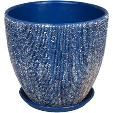 <b>Горшок</b> цветочный «Меланж» серый 2.6 л 180 мм, <b>керамика, с</b> ...