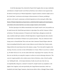 a literary comparison of the hypocrisy of western imperialism in    a literary comparison of the hypocrisy of western imperialism in apocalypse now and heart of darkness by joseph conrad