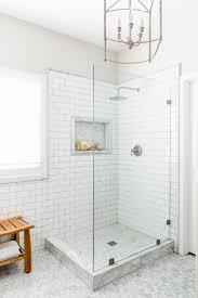 bathroom white tiles: lexi westergard design vermont remodel master bathroom shower marble subway tile