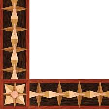 <b>Post Modern</b> Metal & Wood Border: <b>Floor</b> Border by Oshkosh <b>Designs</b>