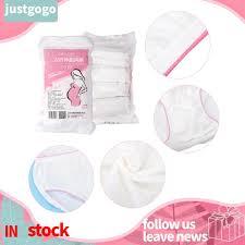 4Pcs Disposable <b>Breathable Cotton Maternity</b> Underwear Elastic ...
