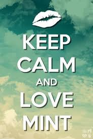 <b>Keep calm and love</b> mint