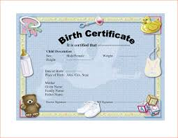 doc birth certificate template for microsoft word birth 6 birth certificate templates birth certificate template for microsoft word
