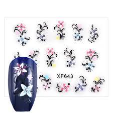 3D переводные <b>наклейки</b> для ногтей 1 лист цветок ...