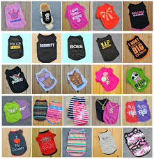 Various <b>Pet</b> Puppy Small <b>Dog Cat Pet Clothes</b> Dress Vest T Shirt ...