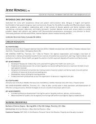 Nurses Resume Samples Template Job Description Icu Nurse Cardiac