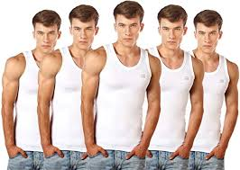 Buy <b>Lux</b> Cozi Men's 100% Cotton White <b>Vests</b> (Pack of 5) at Amazon.in