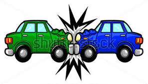Image result for head-on van collision clipart