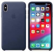 Чехол-<b>накладка Apple Leather Case</b> - Midnight Blue синий, для ...