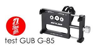 TEST aluminiowego uchwytu na telefon <b>GUB G</b>-85 - YouTube