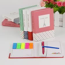 <b>1 Pc Creative Hardcover</b> Notepad Sticky Notes Kawaii Stationery ...