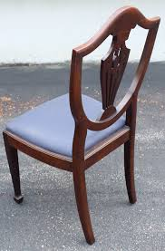 hepplewhite shield dining chairs set: roll over large image to magnify click large image to zoom