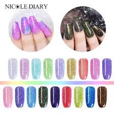 <b>NICOLE DIARY 10ml</b> Holographic Nail <b>Dipping</b> Powder <b>Dipping</b> ...
