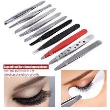 <b>10Pcs Stainless Steel</b> Eyebrow Tweezers Eyelash <b>Hair</b> Lash ...
