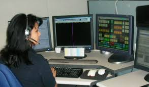 communications operatorcomm op  female over shoulder