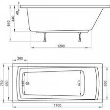 <b>Акриловая ванна Ravak</b> Domino Plus 170x75 70508015 - купить в ...