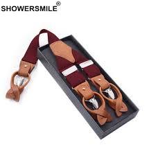 SHOWERSMILE Plaid <b>Suspenders Men</b> Business Y Back Braces ...