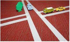 Image result for masking tape matchbox car roads