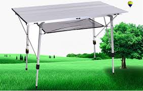 Portable Folding Kitchen Dining Table Aluminum Foldable Camping ...