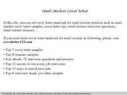resume sles retail manager cover letter job application cover    retail stocker cover letter    cover letter for retail