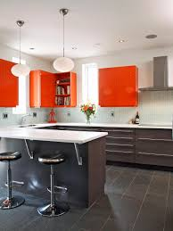 st charles kitchen cabinets:  original robin siegerman sleek kitchen orange cabinetsjpgrendhgtvcom