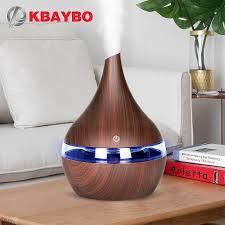 KBAYBO <b>300ml</b> USB Electric Aroma <b>air</b> diffuser wood grain ...