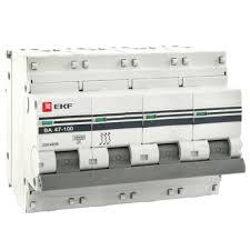 Купить <b>автоматический выключатель ekf</b> proxima ва47-100 4p ...