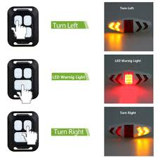 USB <b>Bicycle</b> Blinker Lamp <b>LED Bike</b> Tail Light Laser <b>Turn</b> Signal ...