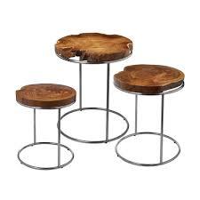 patio slab sets:  full size of teak slab stacking tables teak end table set beautiful irregular shape of the