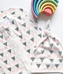 Купить Пеленальный кокон и шапочка <b>Mjölk</b> Треугольники для ...