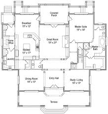 Classic English Country Home Plan   AD   st Floor Master    Floor Plan