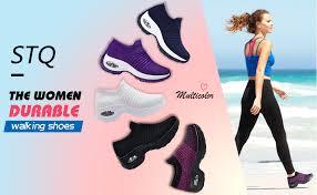 STQ Slip On Breathe Mesh <b>Walking Shoes Women Fashion</b>…