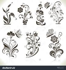 floral flower vector design elements isolated on aged color save to a lightbox interior design baby mickey crib set design