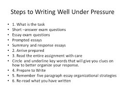 writing in class chapter  steps to writing well under pressure   writing in class chapter