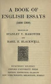 a book of english essays   makower stanley v