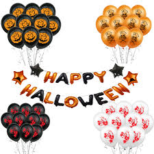 ZLJQ <b>Halloween</b> Balloon Party Decorations 16inch Happy ...