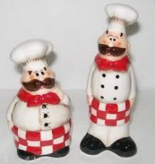 bistro kitchen x fat bistro chef baker chefs salt amp pepper shakers