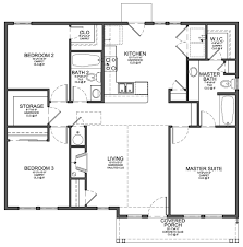 Bedroom Bathroom House Plans   Chateautourduroc comfloor plan for small sf house   bedrooms and Bedroom Bathroom House