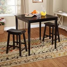 three piece dining set: simple living belfast black  piece saddle dining set