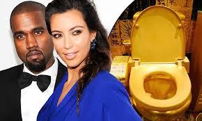 Kanye West and <b>Kim Kardashian</b> flush nearly $1 million on <b>gold</b> ...