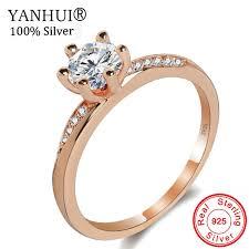 BIG 92% OFF!!! <b>YANHUI</b> 100% <b>Original Solid 925</b> Silver Rings Gold ...