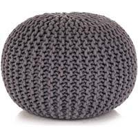 Azrex <b>Pouffe</b>, Grey & Natural - Rewardia