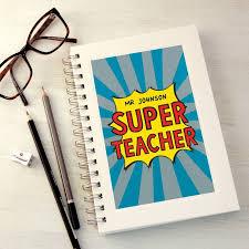 <b>Personalised Super</b> Teacher Notebook | Men teacher gifts | Teacher ...