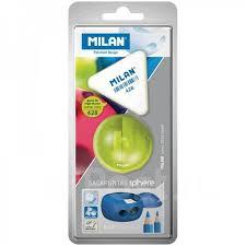 <b>Набор</b> точилка Sphere 2 отв. +ластик <b>Milan</b> 428 блистер ...