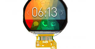 3-cm <b>round touchscreen</b> for wearable and industrial designs