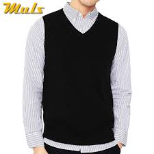 4Colors <b>Men</b> Sleeveless Sweater Vest Autumn Spring <b>100</b>% <b>Cotton</b> ...