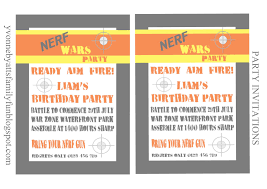 nerf party invitations template printable templates nerf party printables disney cars party printables